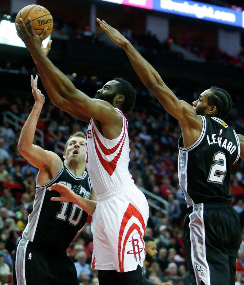 4fc353b9a7be James Harden and the Rockets face the Spurs on Monday in San Antonio for  the teams