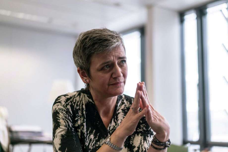 FILE — Margrethe Vestager, the European Union's competition chief, at her office in Brussels, March 3, 2016. Vestager's agency accused Facebook of making misleading statements to receive regulatory approval for its $19 billion purchase of the internet messaging service WhatsApp, filing charges on Dec. 20 that could carry a penalty of about $200 million. (Andrew Testa/The New York Times) Photo: ANDREW TESTA, STR / NTYNS