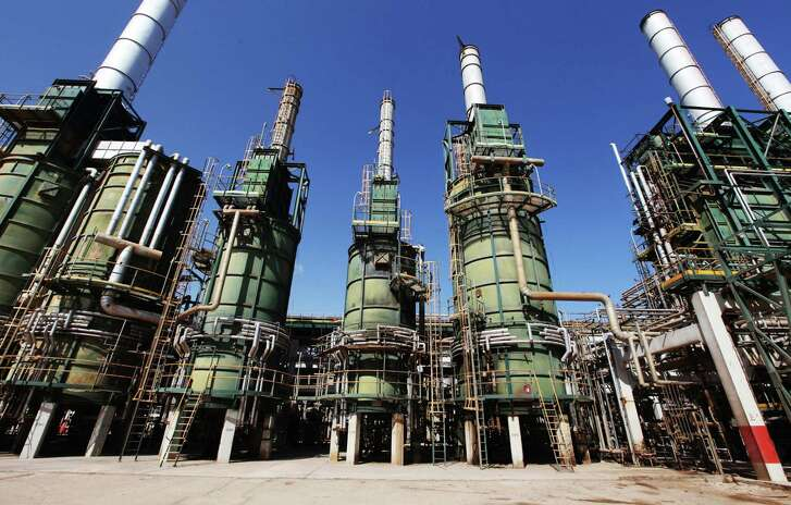These refining towers are at Libya's Zawiya oil refinery near Tripoli. Libya is set to load its first crude cargo in two years from its largest export terminal.