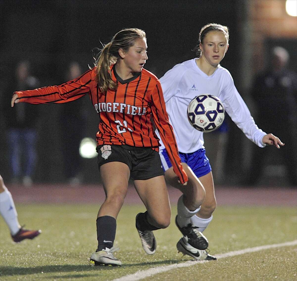 Ridgefield girls soccer The Tigers are 9-0-2 and have only been scored upon four times.