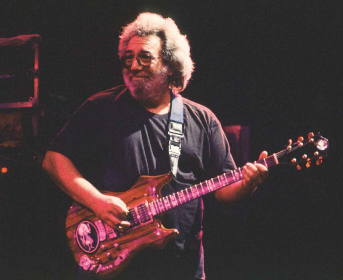 Jerry Garcia plays at the Knickerbocker Arena in Albany during his appearance with the Grateful Dead for a three-day stint, March 24-26, 1990. Click through to see how Deadheads made Albany their home during the Grateful Dead's concerts at the Knick in the early '90s, and read more about their visit.