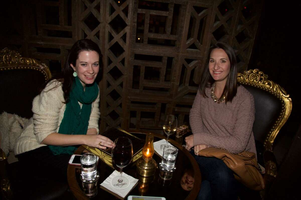 Tiffany Hodges and Christie Cowles are at Esquire Downstairs.