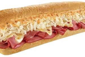 Subway is serving up Corned Beef Reuben sandwiches.