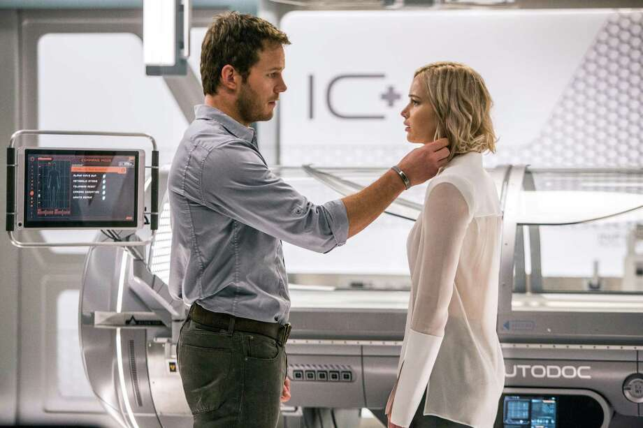 "This image released by Columbia Pictures, Chris Pratt, left, and Jennifer Lawrence in a scene from the film, Passengers."" (Jaimie Trueblood/Columbia Pictures/Sony via AP) ORG XMIT: NYET283 Photo: Jaimie Trueblood / © 2016 Columbia Pictures Industries, Inc. All Rights Reserved. *"
