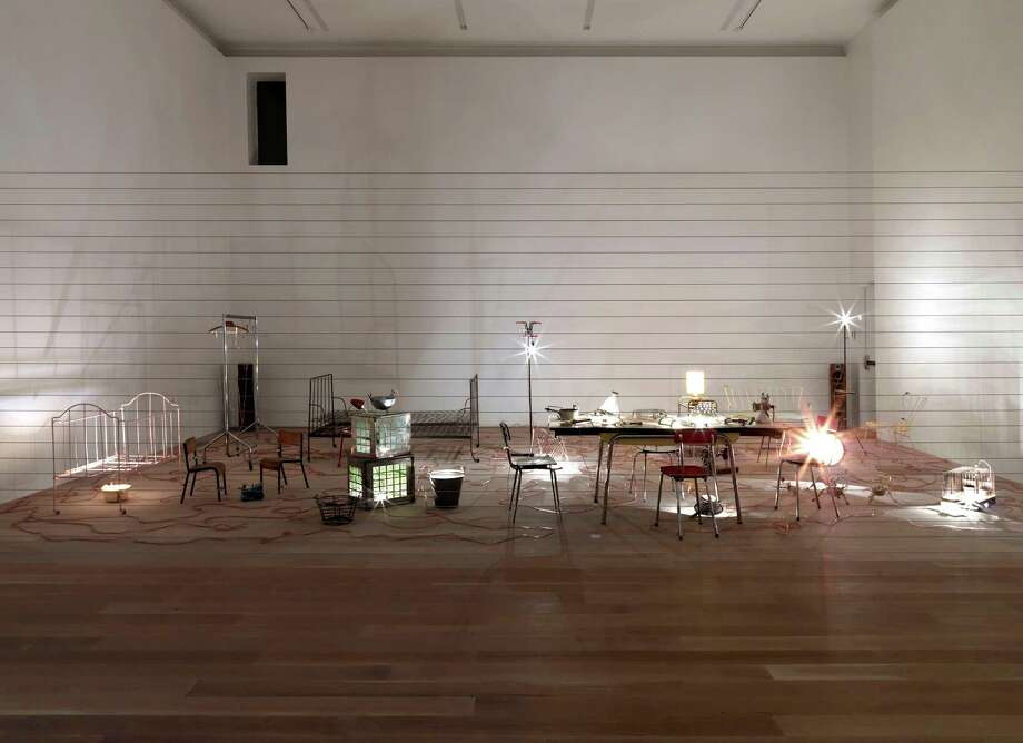 """Mona Hatoum's electrified installation """"Homebound,"""" from 2000, is among works that will be on display at the Menil Collection Oct. 17, 2017-Feb. 25, 2018. Photo: Scott Massey, Courtesy Rennie Collection, Vancouver"""