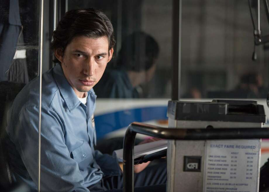 """PATERSON_D06The primary Driver Adam Driver stars as a poet who drives a bus for a living in Jim Jarmusch's gentle character study, """"Paterson."""" Movie opens Jan. 6. Photo credit: Mary Cybulski / Amazon Studios Photo: Mary Cybulski / Amazon Studios & Bleecker Street"""