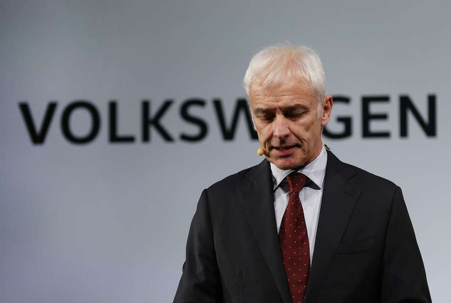 FILE - In this Jan. 10, 2016, file photo, Volkswagen AG chief executive officer Matthias Muller speaks in Detroit. Volkswagen is facing a deadline of Monday, Dec. 19, 2016, to tell a federal judge in San Francisco whether it has reached a deal with U.S. regulators and attorneys for car owners on the remaining 80,000 diesel vehicles that cheated on emissions tests Photo: Paul Sancya /Associated Press / Copyright 2016 The Associated Press. All rights reserved.