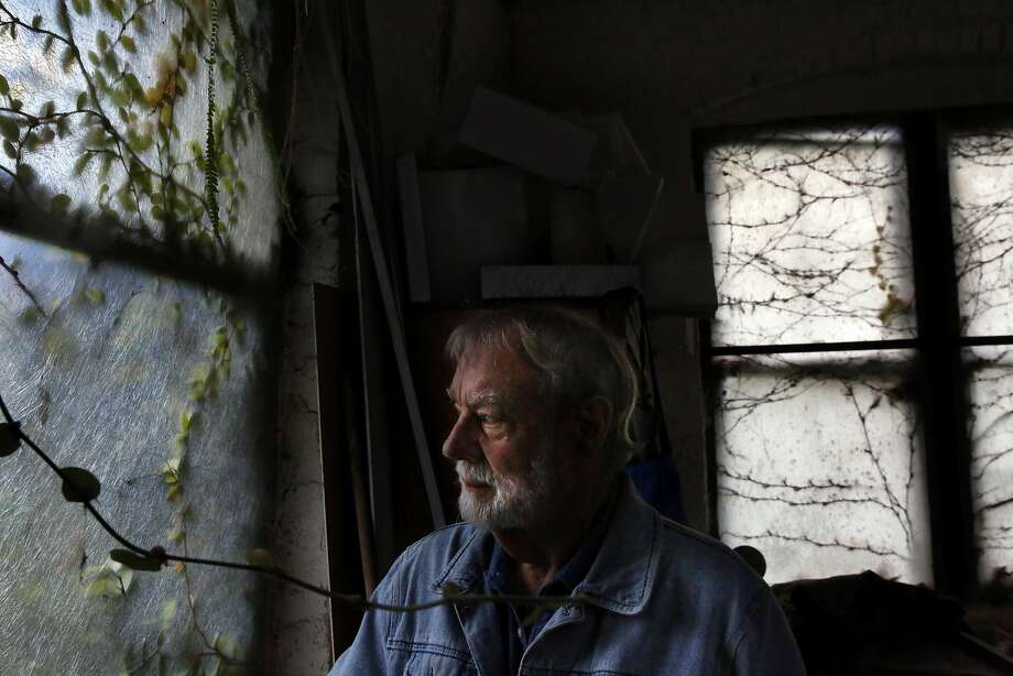 Sculpture artist Bruce Beasley in the warehouse he bought and added living quarters to in the 1960s. Photo: Leah Millis, The Chronicle