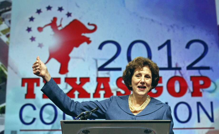 State Comptroller Susan Combs speaks during the 2012 Texas GOP Convention held at the Fort Worth Convention Center Friday June 8, 2012 in Fort Worth, Texas. Photo: Edward A. Ornelas, Staff / San Antonio Express-News / © 2012 San Antonio Express-News