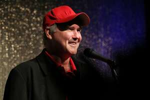 Comedian and former Saturday Night Live performer Norm Macdonald entertains a crowd at Laugh Out Loud Comedy Club on Friday, Jan. 23, 2015. (Kin Man Hui/San Antonio Express-News)