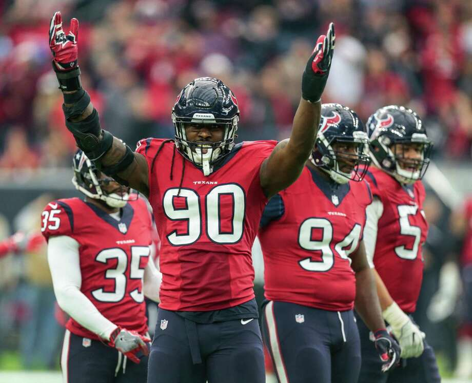 Texans defensive end Jadeveon Clowney (90) is enjoying his successful third season after overcoming microfracture surgery and other injuries last season. Photo: Brett Coomer, Staff / © 2016 Houston Chronicle