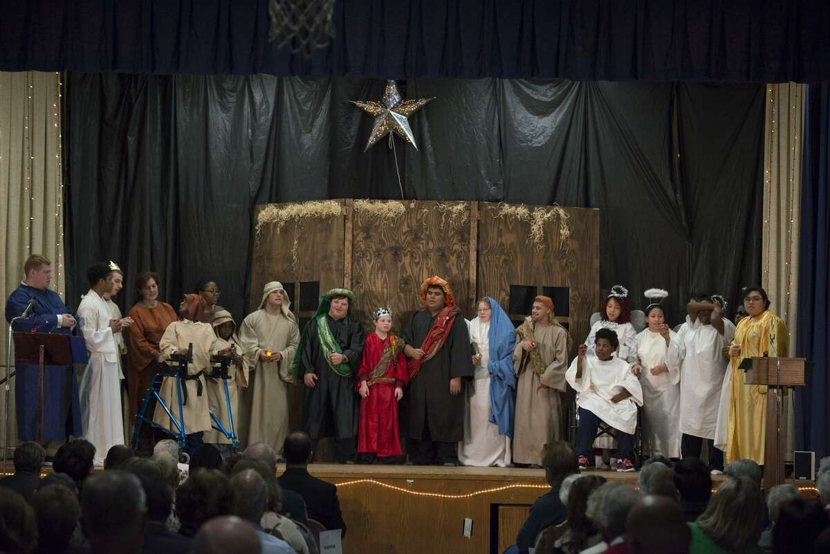 Students performing in previous years for the annual Christmas pageant at the Saint Catherine Center for Special Needs in Fairfield, Conn.
