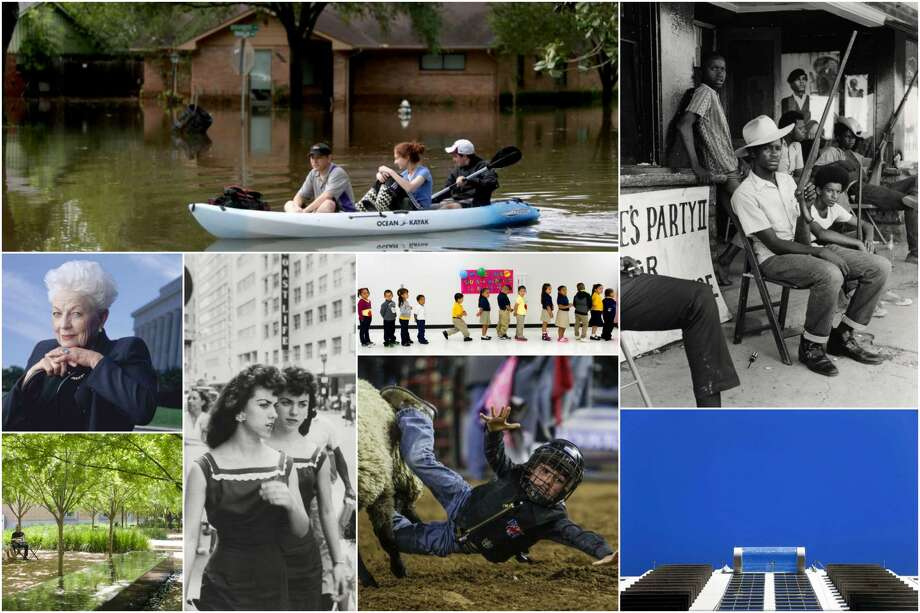 Images from Gray Matters' most-read stories of 2016. Photo: Clockwise From Top Left: Gary Coronado; Bill Thompson/Houston Post; Jon Shapley (pool); Cody Duty (school); Henri-Cartier Bresson/Magnum Photos; Paul Hester/Office Of James Burnett (landscape); Pam Francis/Getty (Ann Richards).