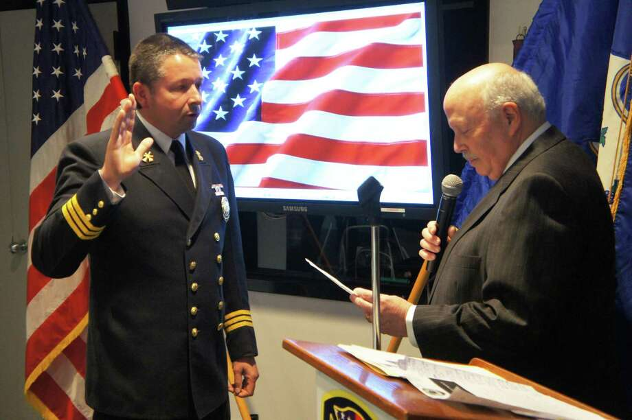 Fire Chief Andrew Kingsbury is retiring in March. Photo: Paul Schott / Westport News