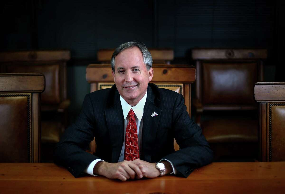 Texas Attorney General Ken Paxton poses for a portrait Wednesday, Sept. 21, 2016, in Austin.
