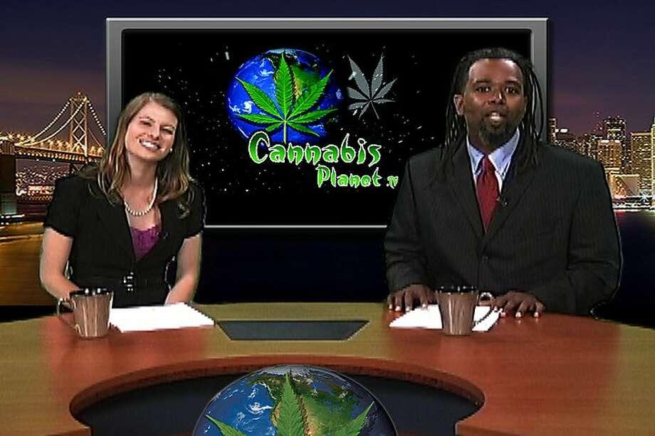 """Cannabis Planet"" co-hosts Ngaio Bealum and Sarah Diesel. Photo: Courtesy Cannabis Planet"