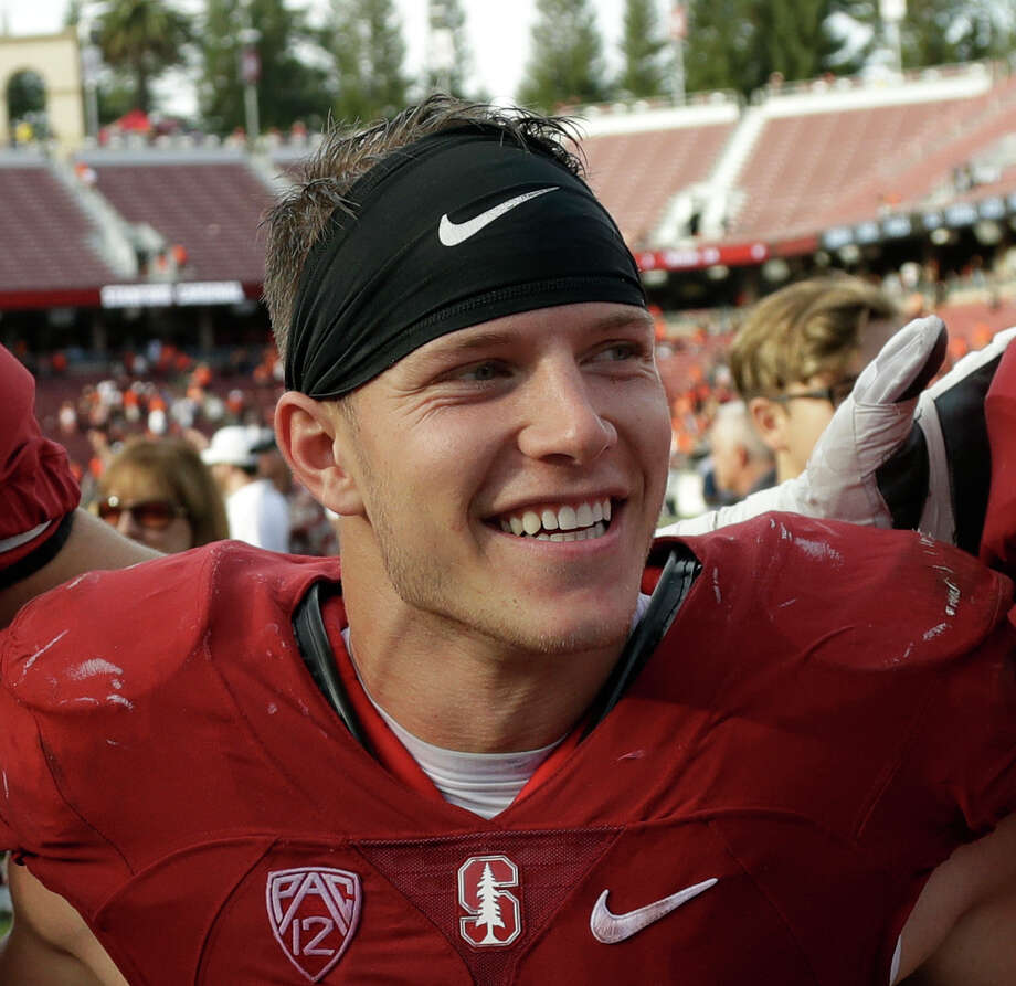 "FILE - In this Nov. 5, 2016, file photo, Stanford running back Christian McCaffrey (5) smiles after Stanford defeated Oregon State, 26-15, in an NCAA college football game, in Stanford, Calif. McCaffrey is done playing college football. Stanford's star running back announced on Twitter on Monday, Dec. 19, 2016, that he will not play in the 16th-ranked Cardinal's Sun Bowl game against North Carolina (8-4) on Dec. 30 in El Paso, Texas. ""Very tough decision, but I have decided not to play in the Sun Bowl so I can begin my draft prep immediately,"" McCaffrey said. (AP Photo/Marcio Jose Sanchez, File) Photo: Marcio Jose Sanchez, STF / Copyright 2016 The Associated Press. All rights reserved."