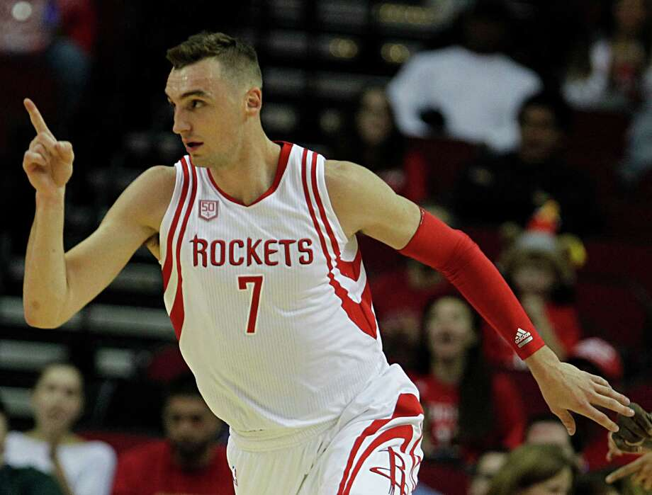 Houston Rockets forward Sam Dekker reacts after scoring a basket against the Utah Jazz during the first half of NBA game action at the Toyota Center Nov. 19, 2016, in Houston. ( James Nielsen / Houston Chronicle ) Photo: James Nielsen, Staff / © 2016  Houston Chronicle