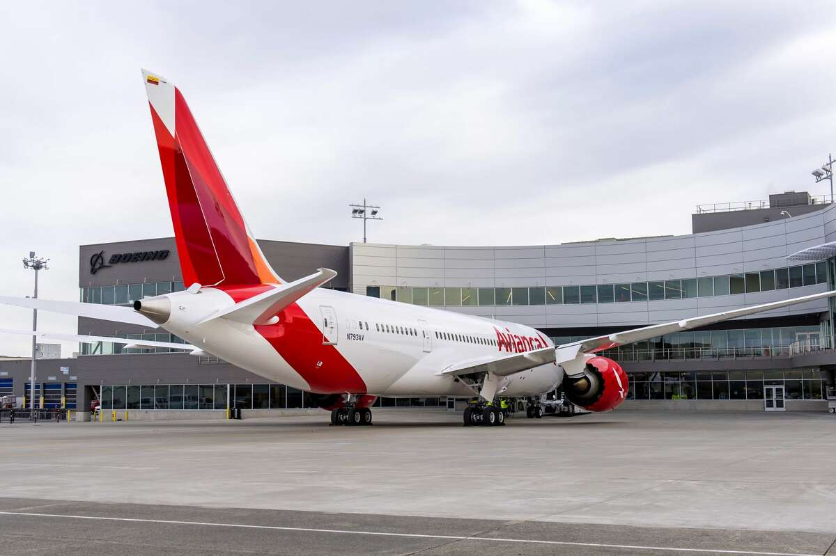 Boeing on Thursday delivered the 500th 787 Dreamliner, a 787-8 to Avianca, marking another milestone in the program's history. The airplane is seen at Boeing's Everett Delivery Center.