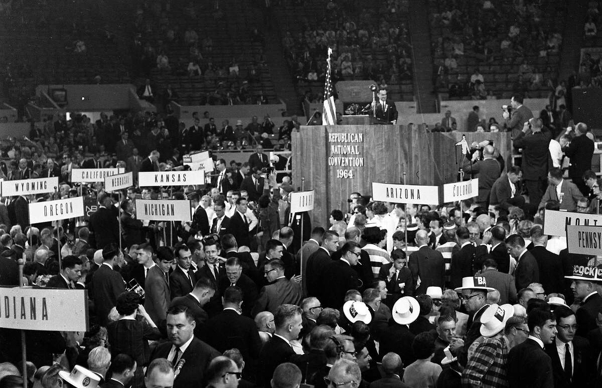 The Republican national convention at the Cow Palace in 1964.