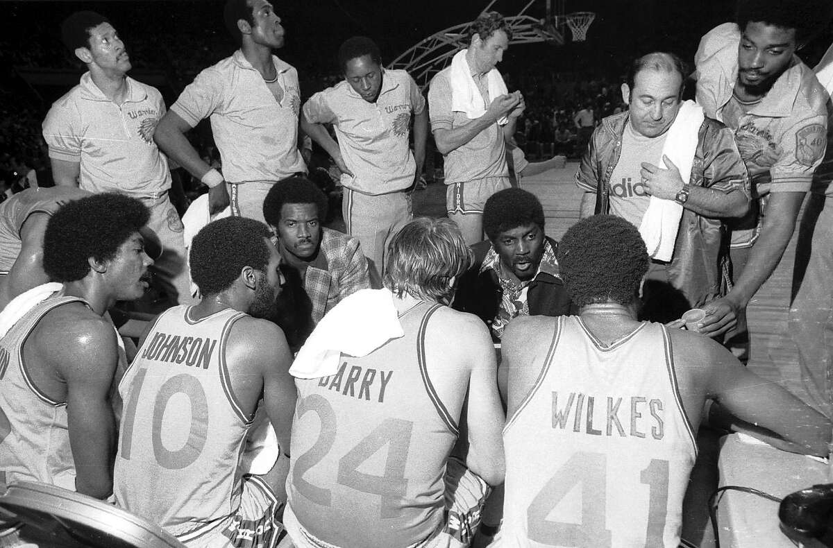 Golden State Warriors versus Washington Bullets in Game 2 of the NBA playoffs at the Cow Palace on May 20, 1975.