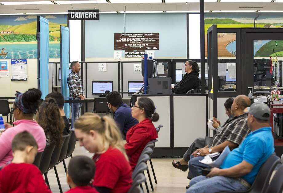 A 2016 file photo of the Department of Motor Vehicles office in Hayward. Photo: Santiago Mejia, The Chronicle