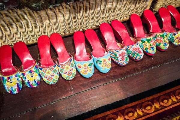Beaded ladies' shoes (kasot manek) are a main element of Peranakan wardrobes.