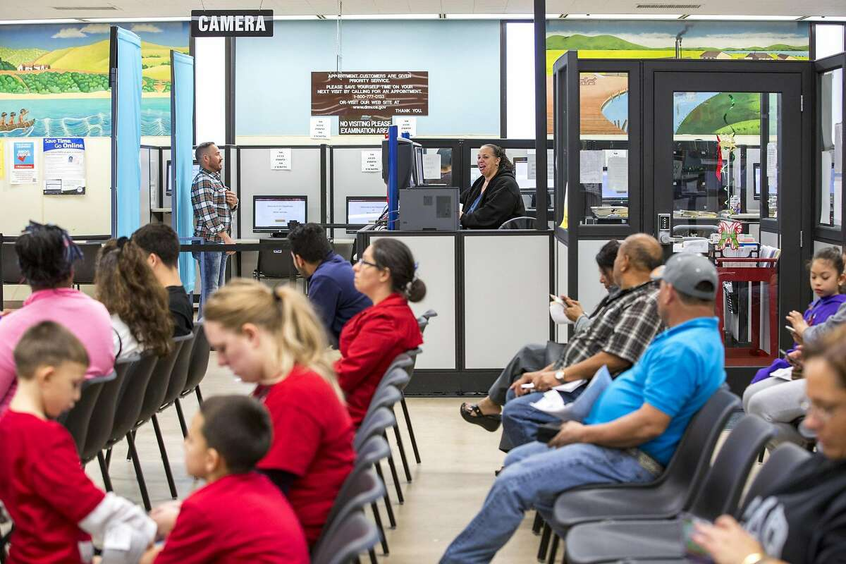 A December 2016 file photo of the Department of Motor Vehicles in Hayward.