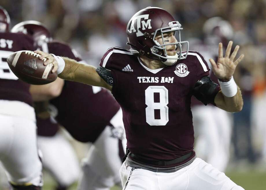 Texas A&M quarterback Trevor Knight, a former Reagan standout, throws a pass against LSU during the third quarter at Kyle Field on Nov. 24, 2016, in College Station. Photo: Brett Coomer /Houston Chronicle / © 2016 Houston Chronicle