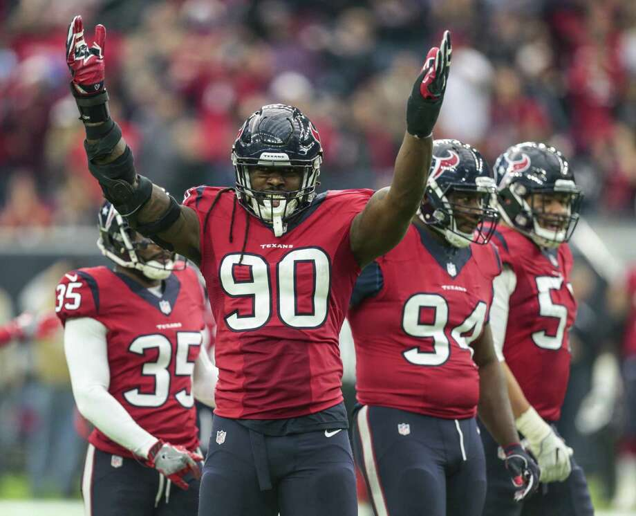"""Jadeveon Clowney is tied for fourth in the NFL with a career-high 15 tackles for losses, and his five sacks are also a career best. """"I'm only getting better. I'm getting healthier as the year goes on,"""" he said. Photo: Brett Coomer / Houston Chronicle / © 2016 Houston Chronicle"""
