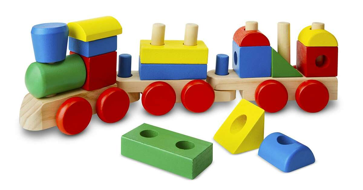 Stacking train from Melissa & Doug toys.