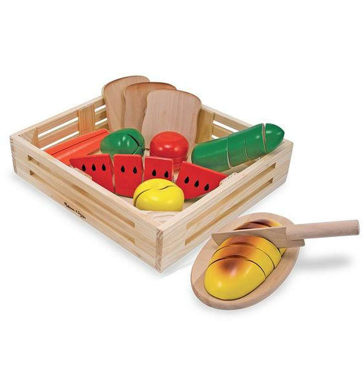 Cutting food set for children from Melissa & Doug toys.