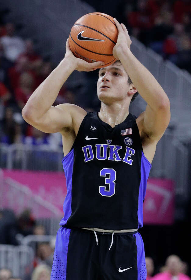 Duke guard Grayson Allen shoots against UNLV during the first half of an NCAA college basketball game Saturday, Dec. 10, 2016, in Las Vegas. (AP Photo/John Locher) ORG XMIT: NVJL116 Photo: John Locher / Copyright 2016 The Associated Press. All rights reserved.