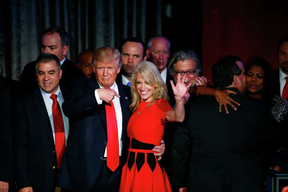 Donald Trump said he will appoint Kellyanne Conway counselor to the president, making her the highest-ranking woman in Trump's White House.  Photo: ERIC THAYER, STR / NYTNS