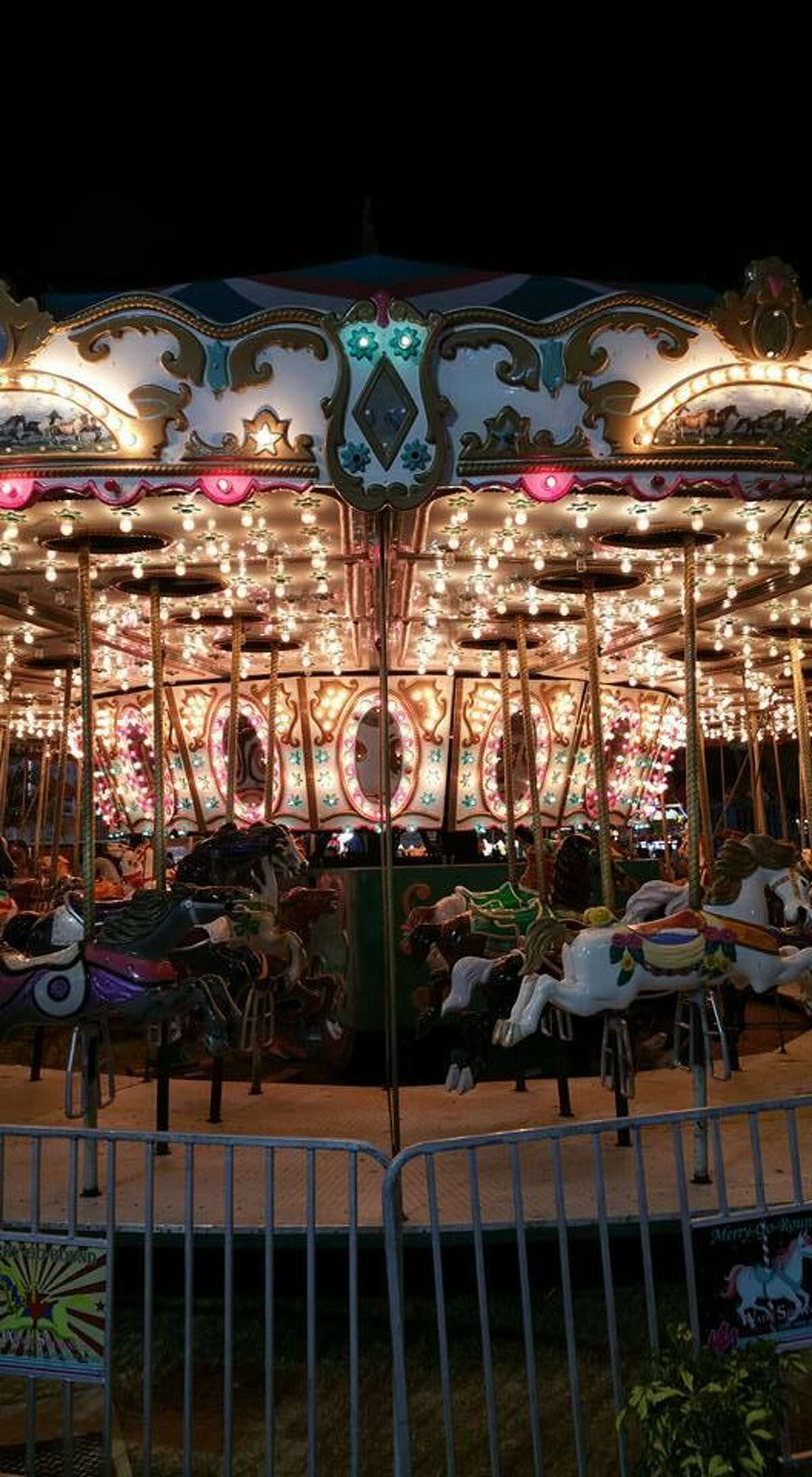 This is a file photo of the carousel being considered for Short Beach. It's owned by Marenna Amusements, which also operated midways and other outdoor amusements in the region.