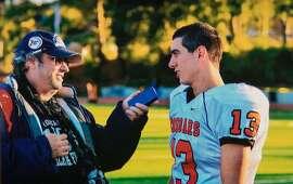 Mark Foyer interviewed a Half Moon Bay High School football player in 2012