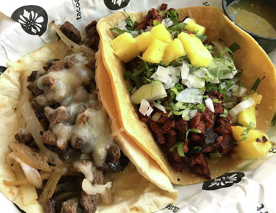 Tacoart, the former Urban Taco at Quarry Village, has closed. These are carne asada and al pastor tacos from before Tacoart closed. Photo: Mike Sutter /San Antonio Express-News