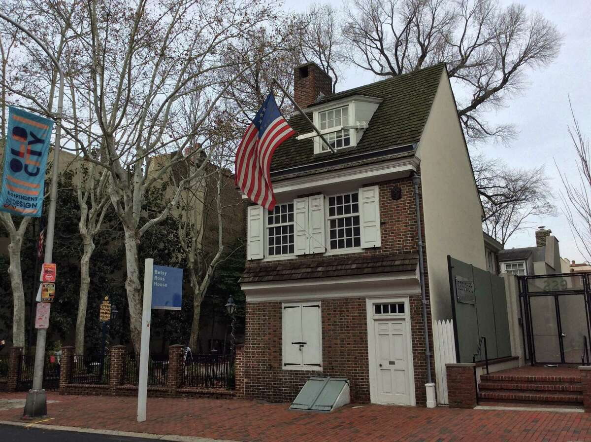 The Betsy Ross House, built in 1760, was home to the seamstress believed to have crafted the first Stars and Stripes flag to celebrate U.S. independence in July 1776. It is in Historic Philadelphia's Old City neighborhood.