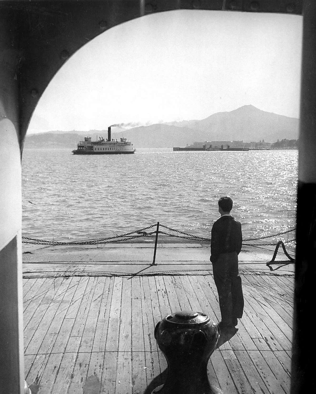 Ferry boats on San Francisco Bay. This was the richmond to San Rafael run, before the bridge made ferries obsolete.