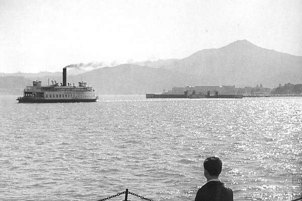 Ferry boats on San Francisco Bay. This was the richmond to San Rafael run, before the bridge made Ferries obsolete    Photo by James M. Mobley