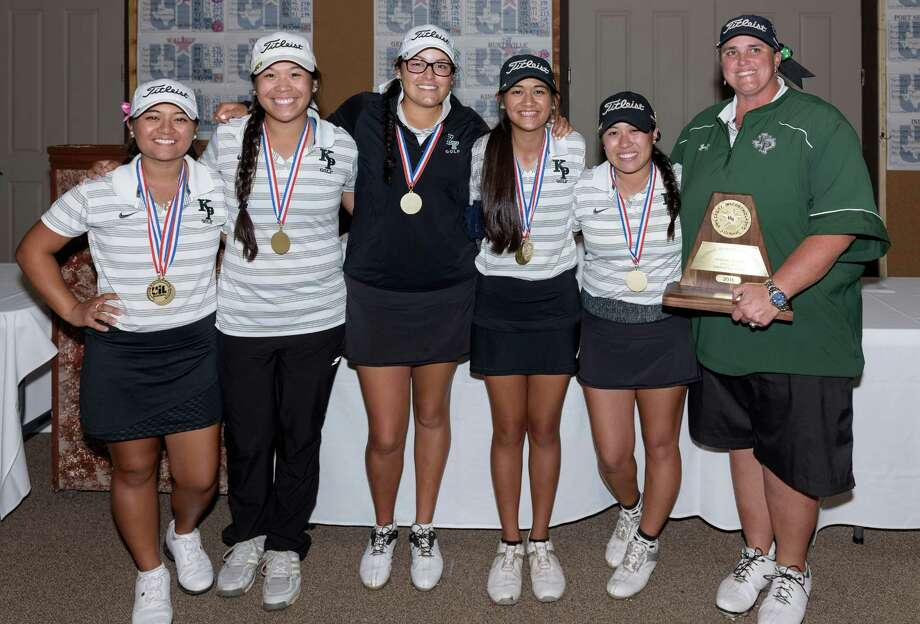 Kingwood Park Girls Golf Team wins the 5A Region III Championship for girls on Wednesday, April 13, 2016 at the River Ridge Golf Club. Photo: Wilf Thorne / © 2016 Houston Chronicle
