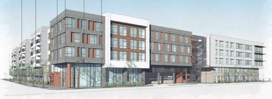 Dallas developer Encore Multi-Family plans to start construction in February on an as-yet-unnamed apartment complex in south downtown. Photo: Historic And Design Review Commission /