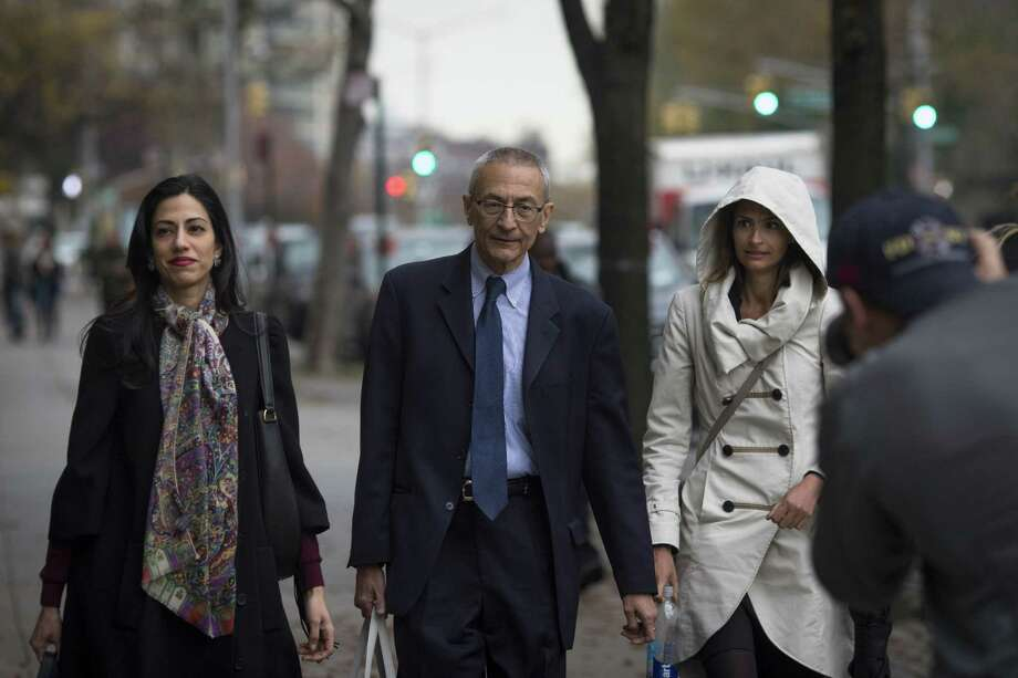 As the blame game rages , no one is safe — not even called Hillary Clinton's most trusted aide, Huma Abedin (left). Meanwhile, John Podesta (center), chairman of Clinton's campaign, was at the center of just about everything that went wrong with her bid for the presidency. Photo: Dave Sanders /New York Times / NYTNS