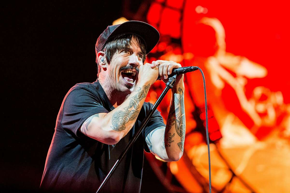 Anthony Kiedis of Red Hot Chili Peppers performs on Day 3 of Lollapalooza on Saturday, July 30, 2016, in Chicago. (Photo by Amy Harris/Invision/AP)