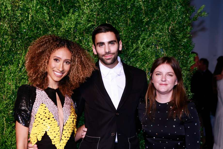 FILE-- Editor of Teen Vogue Elaine Welteroth, Teen Vogue's digital editorial director Phillip Picardi, and creative director of Teen Vogue Marie Suter the 2016 CFDA/Vogue Fashion Fund Awards at Spring Studios on November 7, 2016 in New York City. Photo: Gonzalo Marroquin/Patrick McMullan Via Getty Image