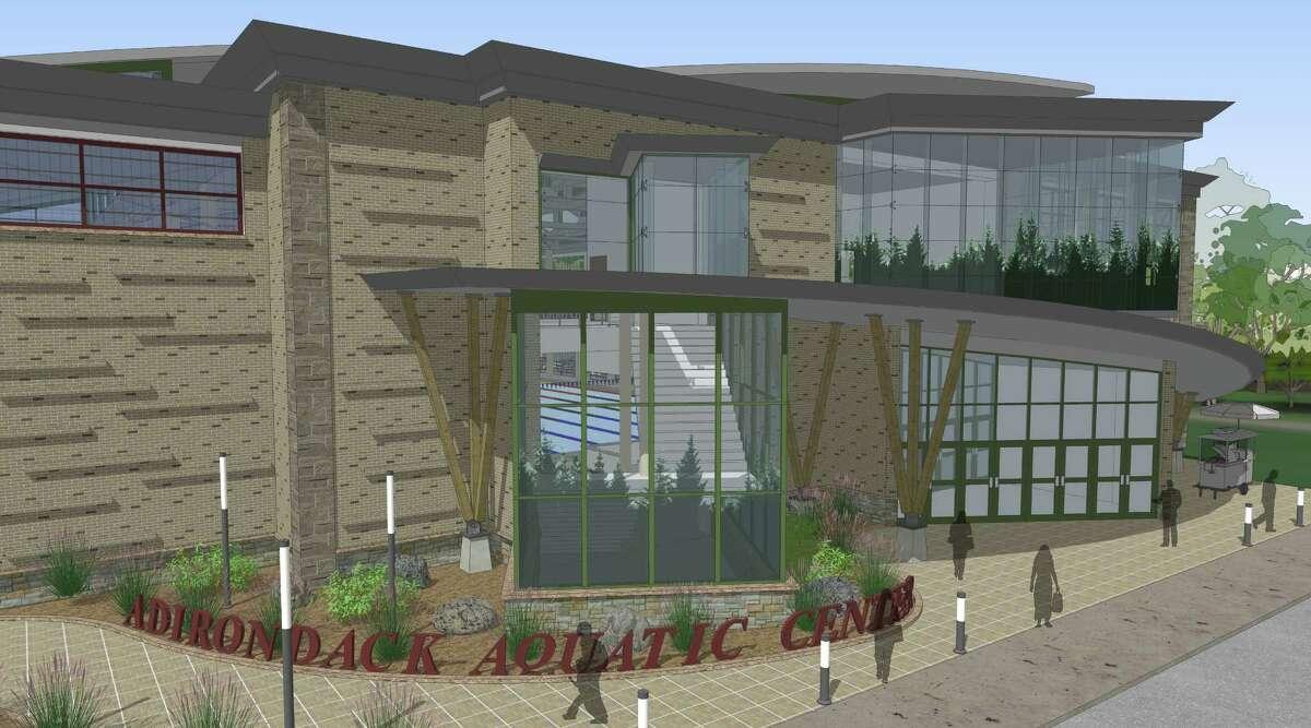 Conceptual design for a planned aquatic center in Malta. (Provided)
