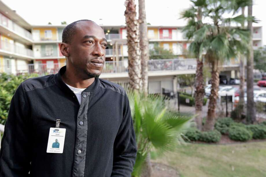 Everett Palmer is photographed at Midtown Terrace Suites, a housing complex affiliated with U.S. Vets, Inc that specializes in formerly homeless veterans in Houston, TX, on Tuesday, November 22, 2016.Everett Palmer is photographed at Midtown Terrace Suites, a housing complex affiliated with U.S. Vets, Inc that specializes in formerly homeless veterans in Houston, TX, on Tuesday, November 22, 2016. Photo: Tim Warner, Freelance / Houston Chronicle