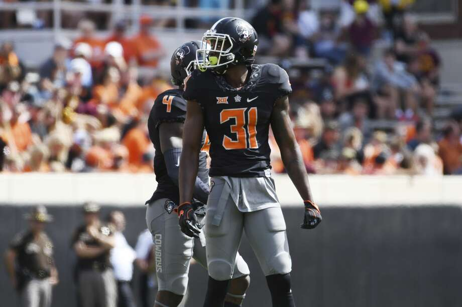 STILL WATER, OK - SEPTEMBER 10: Safety Tre Flowers #31 of the Oklahoma State Cowboys watches game action against Central Michigan during the first half of a NCAA football game, September 10, 2016 at Boone Pickens Stadium in Stillwater, Oklahoma. (Photo by J Pat Carter/Getty Images) Photo: J Pat Carter