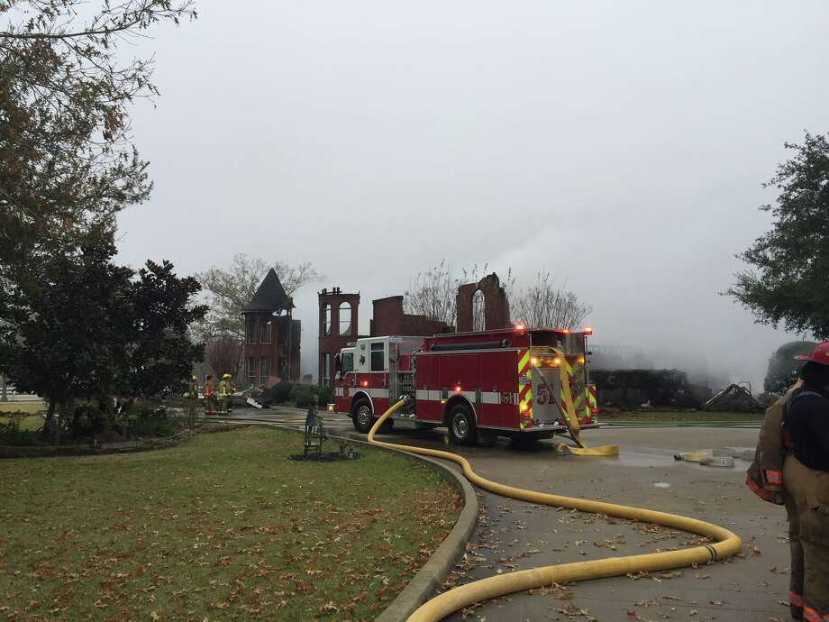 Residents were able to escape a blaze that destroyed a large home off FM      149 early Friday morning, according to the Montgomery County Fire      Marshal's Office. Photo: Submitted Photo