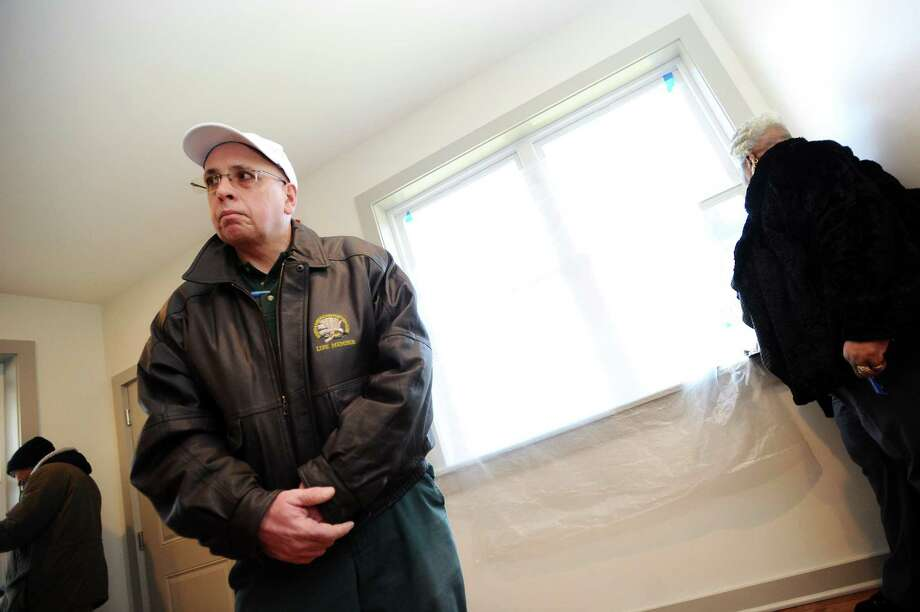 Potential new resident at Gateway House Matthew Monte discusses what it will be like to have a home for the holidays inside Pacific House's newest affordable housing development on Spruce St. in Stamford. Photo: Michael Cummo / Hearst Connecticut Media / Stamford Advocate